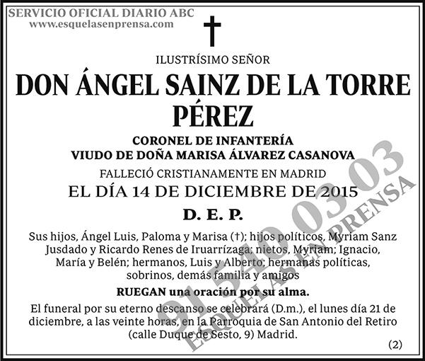 Ángel Sainz de la Torre Pérez